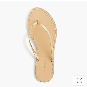 J. Crew Capri Sandal flip flop, gold